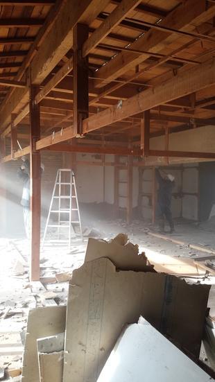 新築工事 解体中①