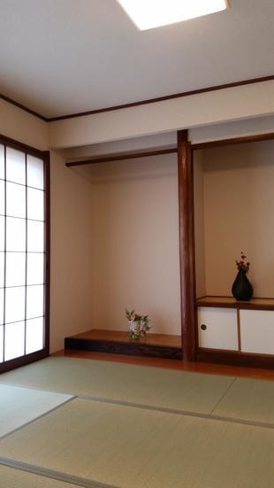 和室の塗り壁→和風クロスでお色直し!