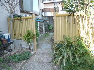 エバー竹パネルのフェンス