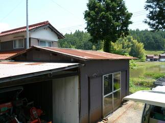農舎屋根改修工事 before