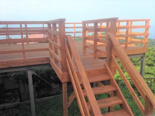 熱海で戸建てリフォーム!ウッドデッキの改修工事。網代山D様邸。