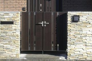 門扉と門塀