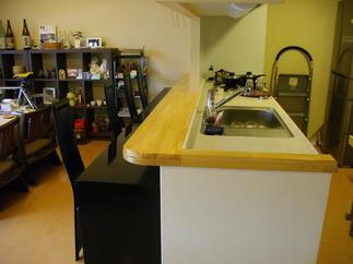 施工前 カウンターキッチンとダイニング収納