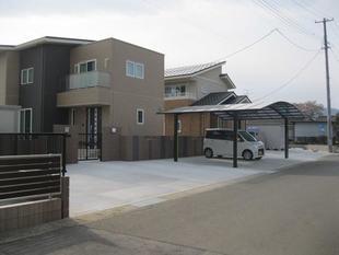 二世帯住宅の外構工事