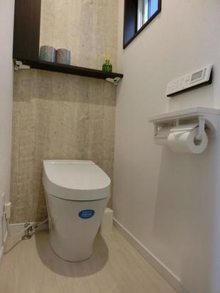 節水トイレと段差をなくしたトイレ空間リフォーム