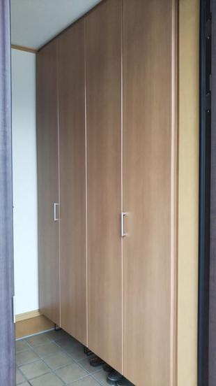 玄関が大収納空間へと早変わり!