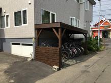 木造駐輪場工事
