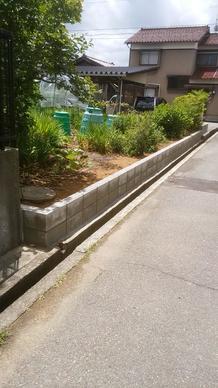 畑コンクリートブロック擁壁工事