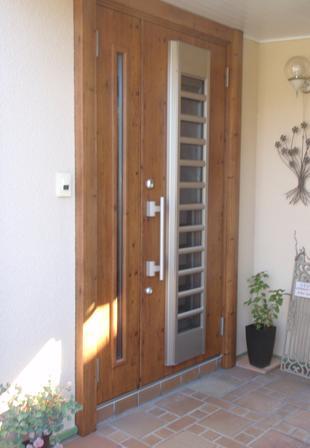 爽やかな風が通る玄関 1dayリフォーム 玄関ドア リシェント