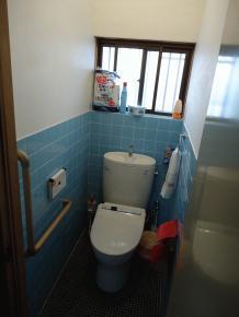 トイレに手摺を設置しました。(2012.02.10)