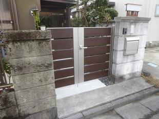 玄関ポストと門扉のリフォーム