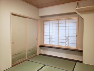 キッチンと居間を旅館のような和室に改修!