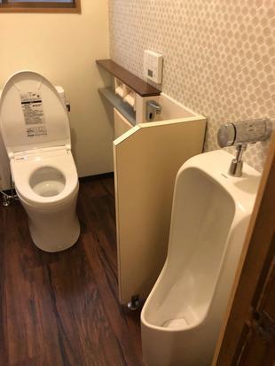 壁と床クロスを張り替えてオシャレなトイレに