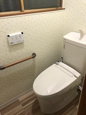 お掃除ラクラク、節水トイレにリフォーム!