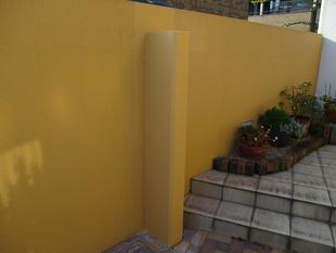 ブロック塀の補強工事
