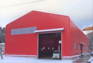 大型テント倉庫が完成しました。