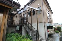 外階段屋根 造作工事