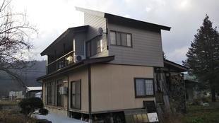 屋根 形状変更(自然落雪)リフォーム工事