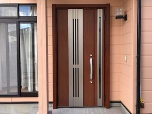 中古住宅購入以来、気になっていた玄関扉の操作音を玄関リフォームで解消