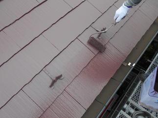 屋根 遮熱塗料で塗装させて頂きました。