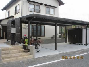 [鳥取県 米子市]スムーズに駐車!外構工事