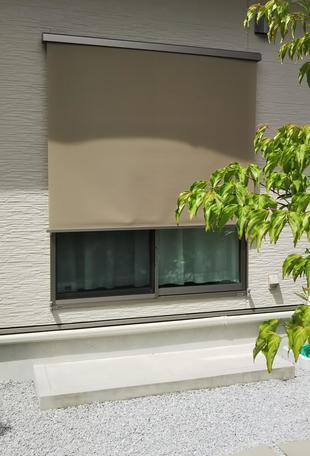 [鳥取県 米子市]日差しを防ぐ!外付け日よけ取付工事