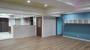 大空間のマンションを贅沢に全面リフォーム致しました。