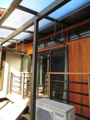 松江市 素敵な中庭のウッドデッキとテラスをリフォーム