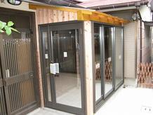 玄関前整備工事(2011.01.06)