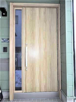 中古住宅を自分スタイルに 玄関ドア交換