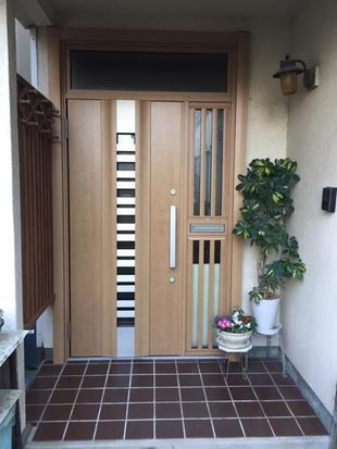リフォーム用 玄関ドア リシェント 防犯・彩光・彩風・断熱ドア