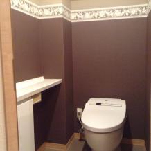 トイレ壁紙貼替えリフォーム