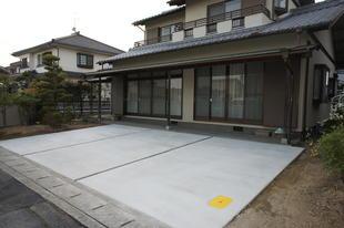 車庫スペース完成 岡山市駐車スペース拡充