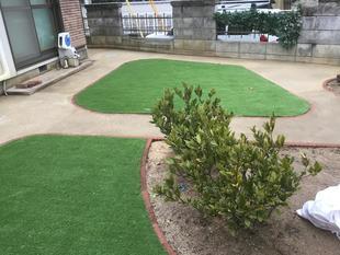 防草対策造園工事 岡山市中区 防草対策造園事例