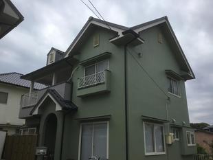 外壁塗装工事事例 倉敷市 雨漏り対策 外壁塗装工事事例