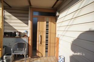 倉敷市 玄関ドア1dayリフォーム