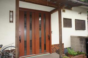 岡山県倉敷市 玄関引き戸1dayリフォーム