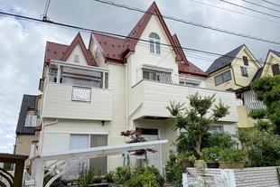八街市 台風被害からの屋根の復旧と外壁塗装リフォーム