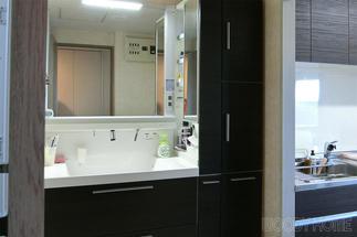 収納しやすくなった洗面化粧台