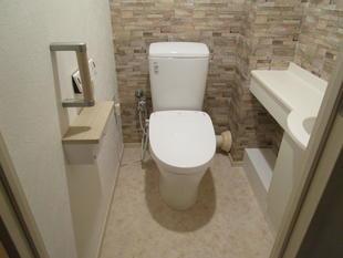 船橋市 アクセントクロスでトイレをお洒落にリフォーム
