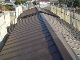 (屋根)カバ-工法、破風板金、雨樋取替工事