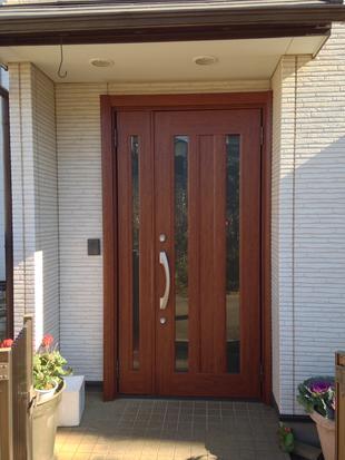 玄関ドア、リフォ-ム工事