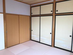 娘の部屋を和室から桜色の部屋に改装