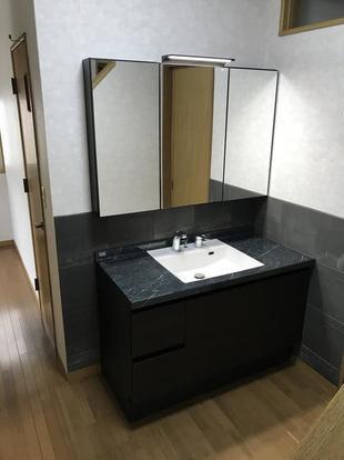 洗面台取り替え工事!