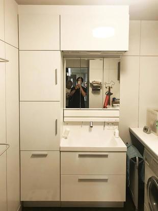 収納たくさん洗面台交換工事【日置市】