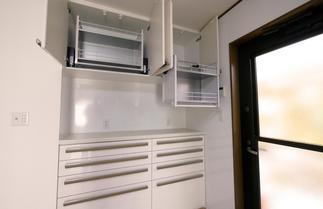 キッチンシステム収納も大容量に。