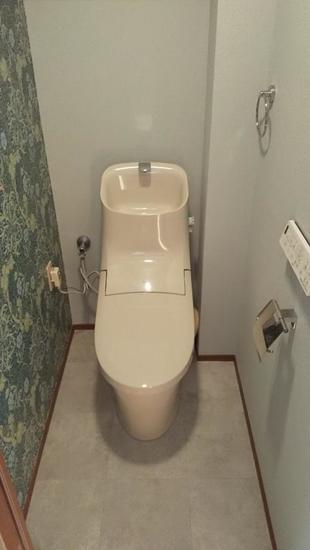 アクセントクロスでトイレ空間大変身
