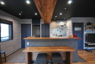 お料理を楽しむスタジオ風キッチン