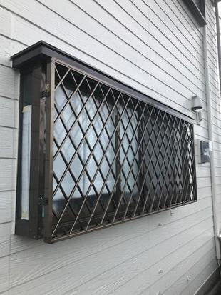 宮崎市熊野A様邸:アルミ面格子(ヒシクロス)取付工事