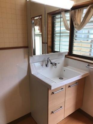 宮崎市中西町リフォームN様邸:洗面化粧台・トイレリフォーム工事